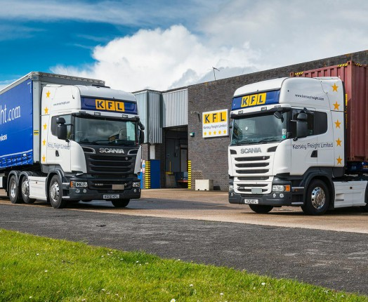 Lorries at a Suffolk depot
